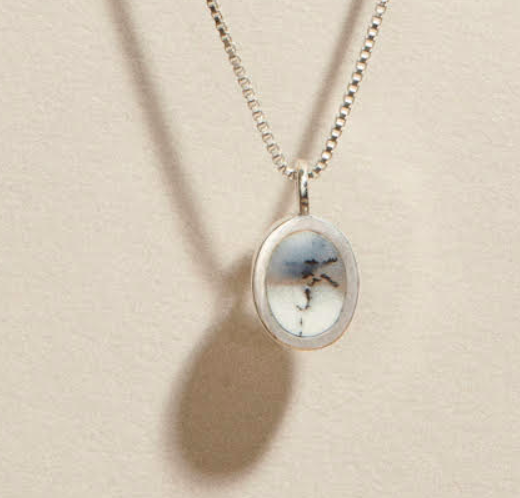 J Hannah silver pendant