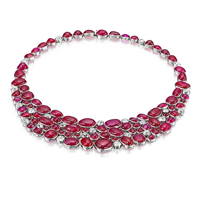 Suzanne Belperron ruby necklace form Siegelson