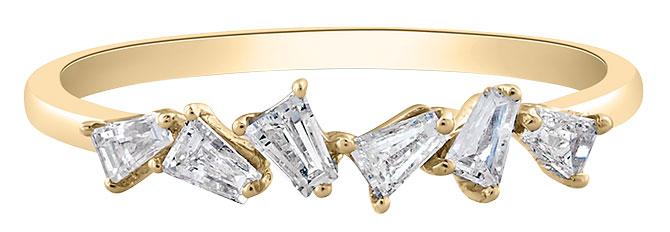 Tresor diamond baguette ring