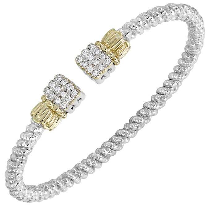 Vahan sterling silver and diamond bangle