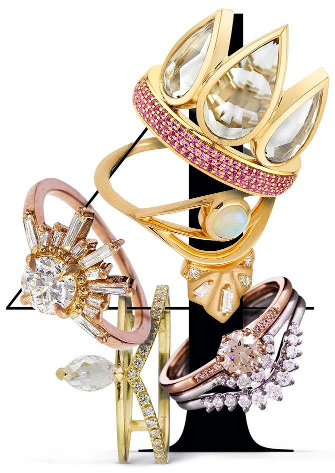 crown tiara rings