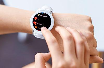 ticwatch E on wrist
