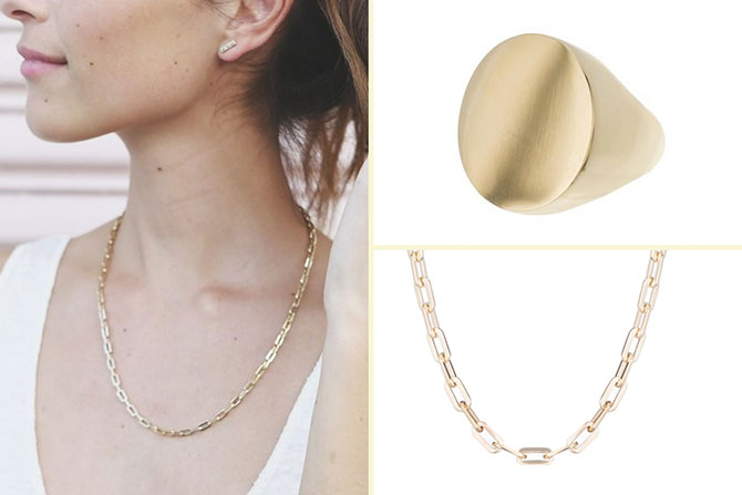 Ariel Gordon necklace and ring