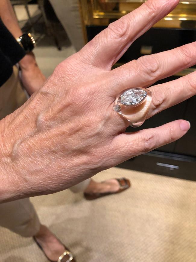 Belperron crystal rock ring