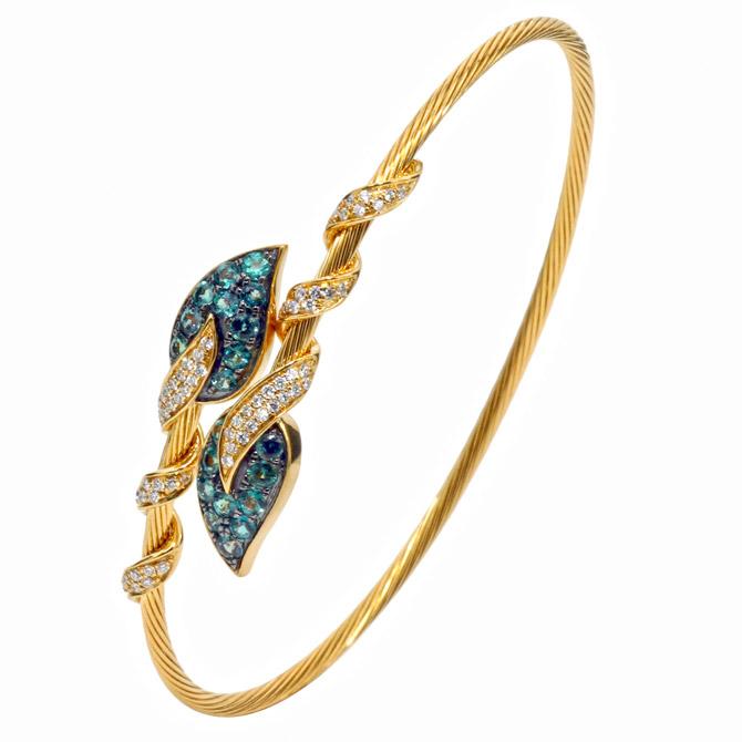 Mark Henry alexandrite leaves bracelet
