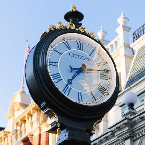 Citizen clock on Main Street, U.S.A.
