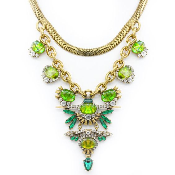 Countess collection green stone necklace