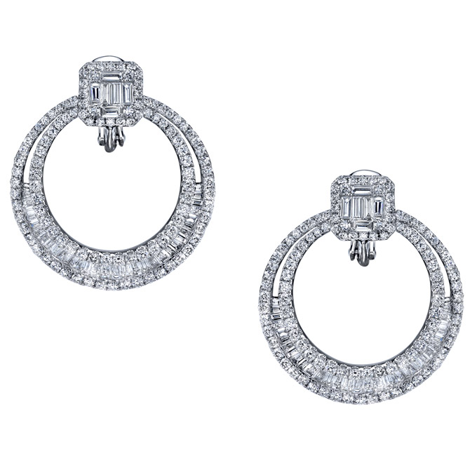 Cirari diamond wreath earrings