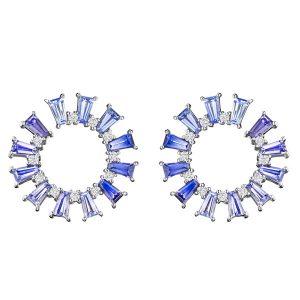 Penny Preville Watercolor wreath earrings