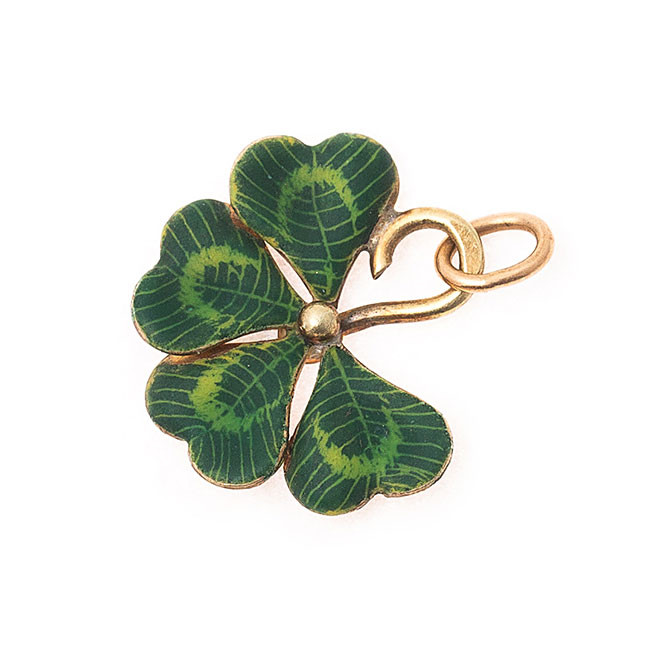 Fox and Bond vintage clover charm