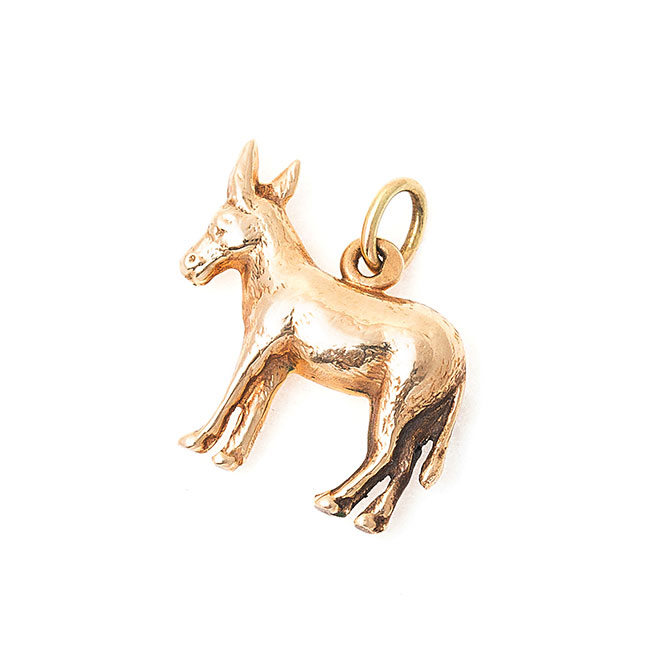 Fox and Bond vintage donkey charm