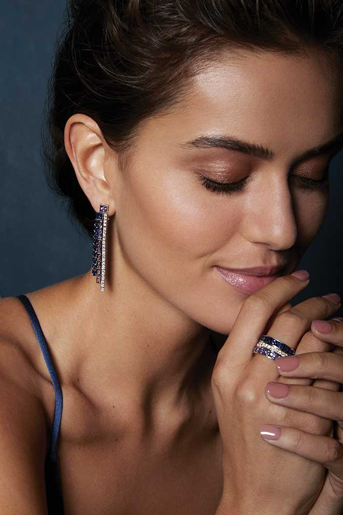 Greenwich St Jewelers campaign earrings and ring