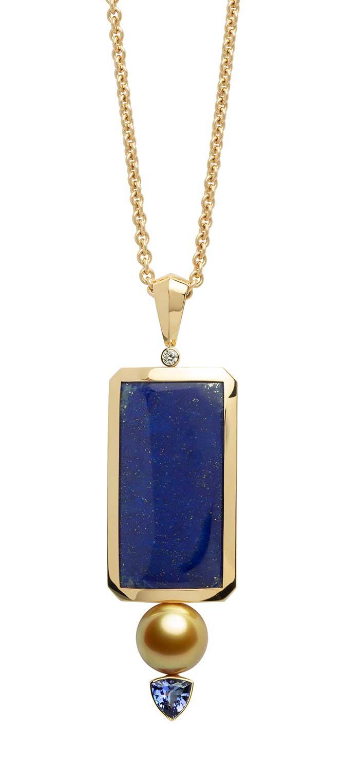Jewelmer Les Amulettes pendant with lapis lazuli