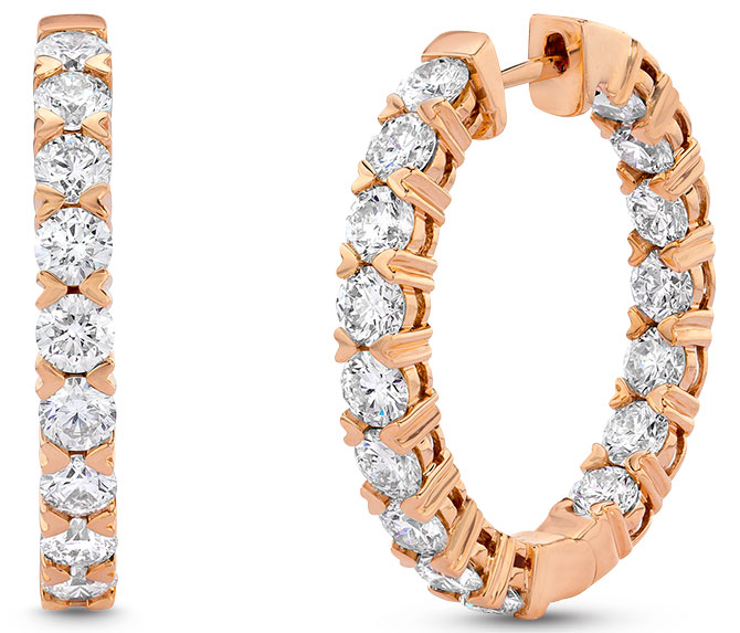 Le Vian strawberry gold hoops