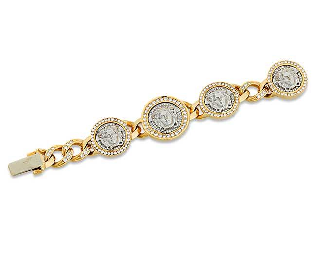 Medusa gold-and-diamond bracelet by Versace