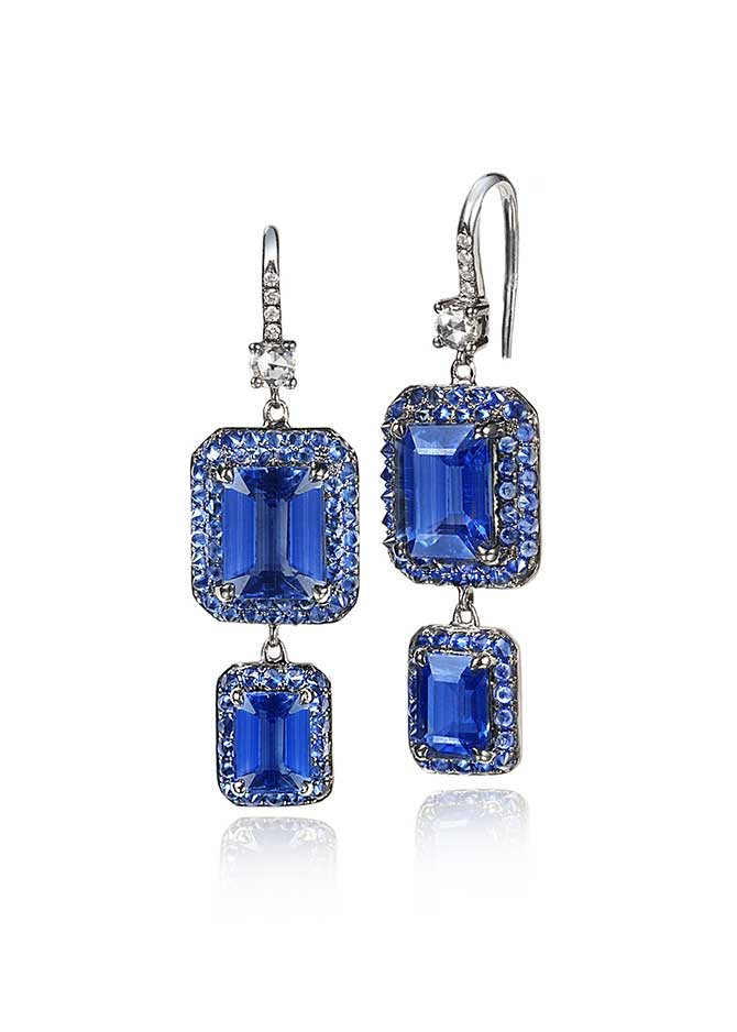 Nam Cho kyanite earrings