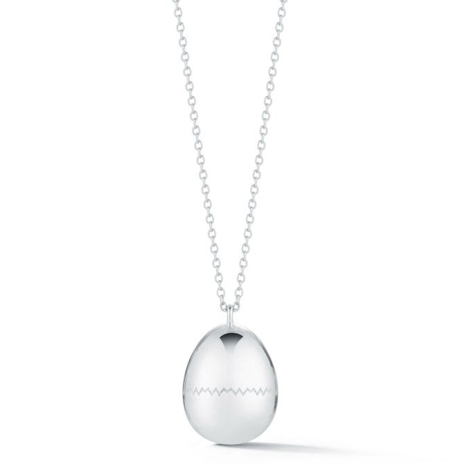 Tali Gillette Good Egg silver necklace