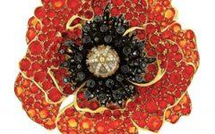 Paula Crevoshay Poppy brooch