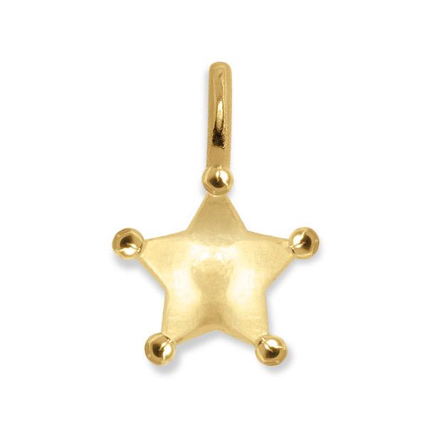 Alex Woo sheriff star pendant