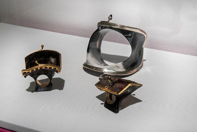 Petra Zimmerman bracelet and rings