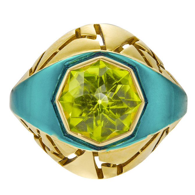 The Rock Hound Chromanteq peridot ring