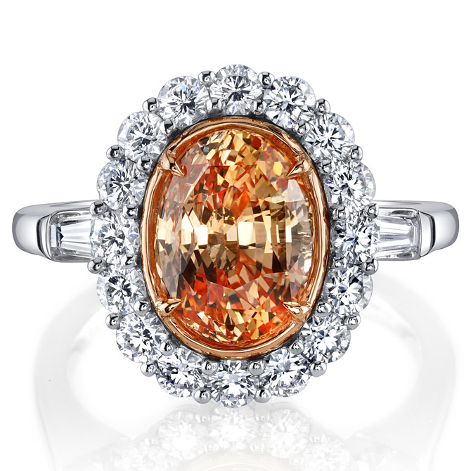 Omi Prive orange yellow sapphire ring