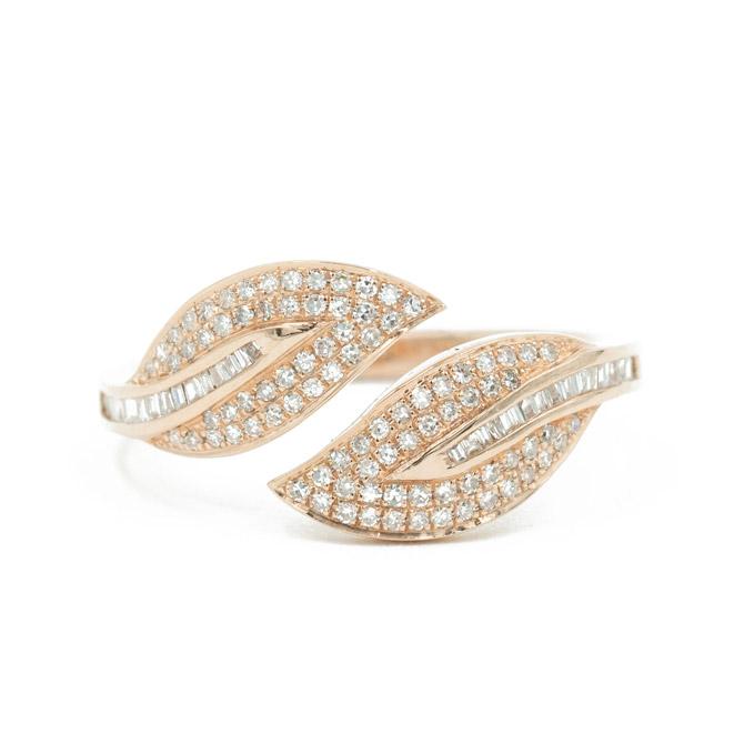 Andrea Groussman diamond leaves ring