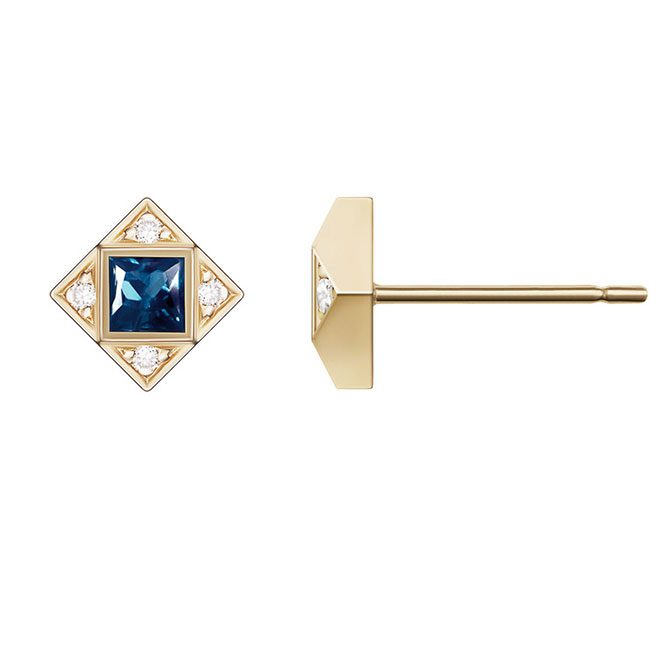 Selin Kent sapphire stud earrings