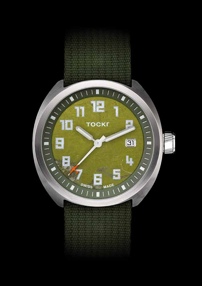 Tockr Clean Dial D-Day watch