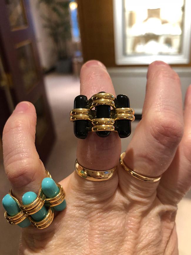 Verdura Trio rings