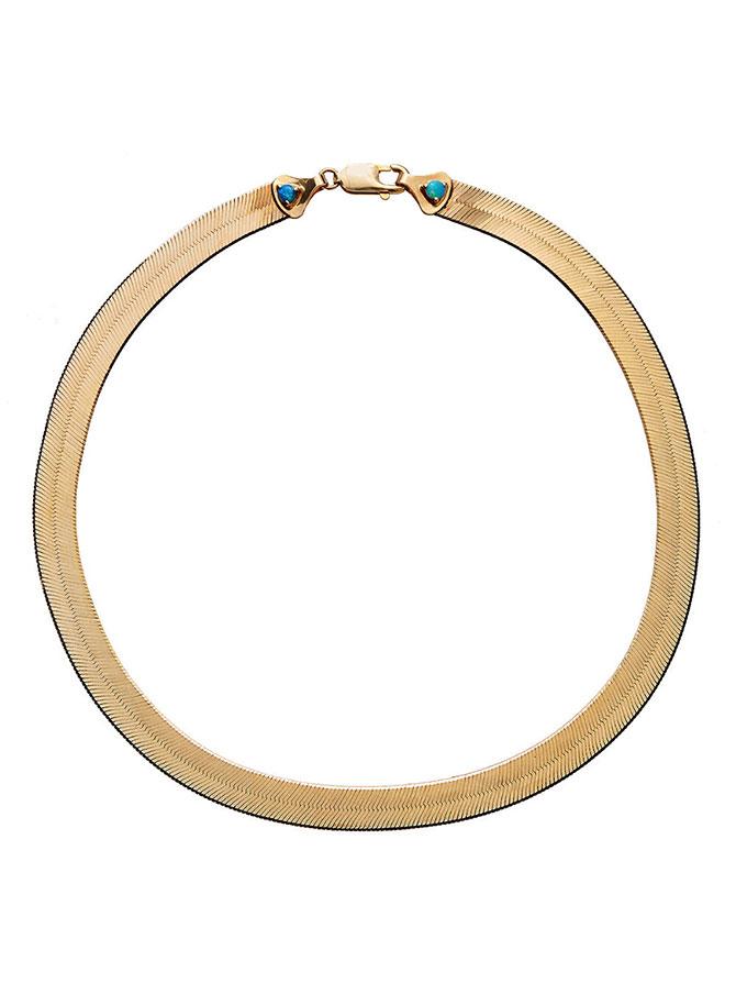 Wwake gold herringbone necklace