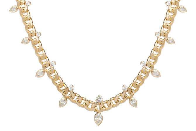 Zoe Chicco gold and diamond necklace