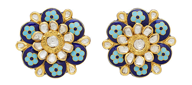 amrapali enamel flower earrings