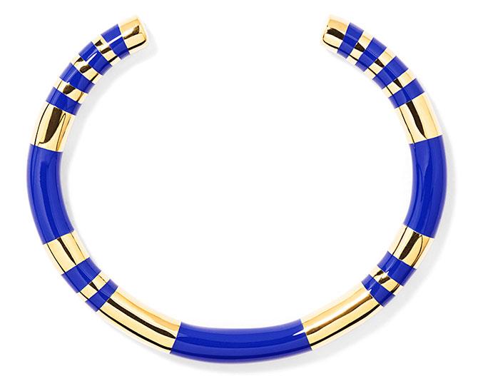 aurelie bidermann positano blue resin bracelet