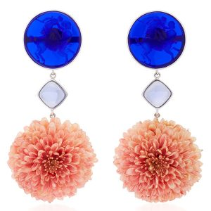 bahina venetian glass dahlia earrings