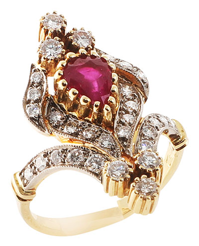 broken english vintage ruby ring