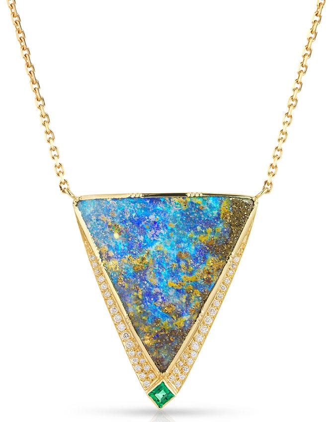 brooke gregson boulder opal pendant