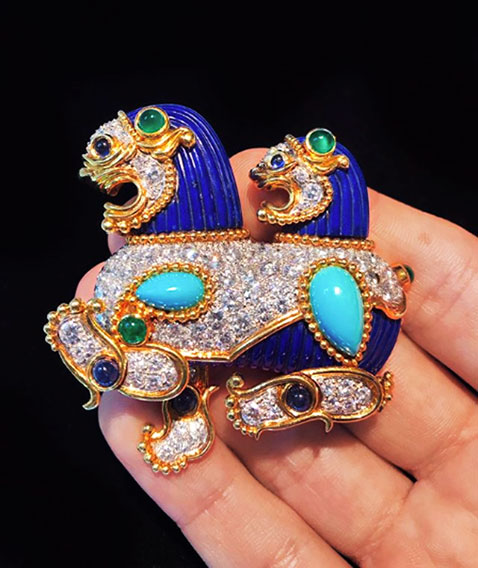 cartier dragon brooch