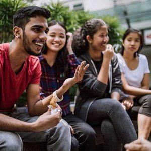 diverse millennials