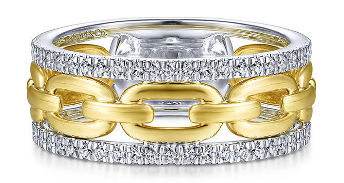 gabriel diamond gold ring