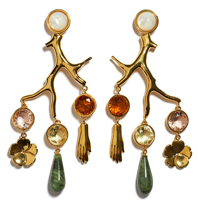 lizzie fortunato relic chandelier earrings