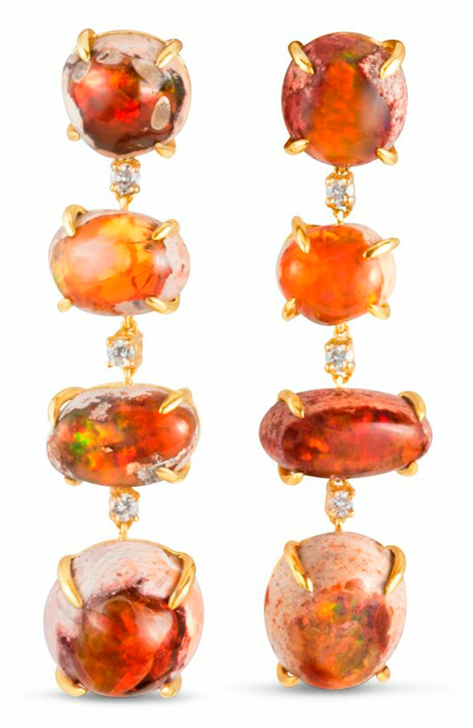 m spalten mexican opal earrings