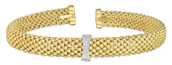 phillip gavriel popcorn cuff with diamonds