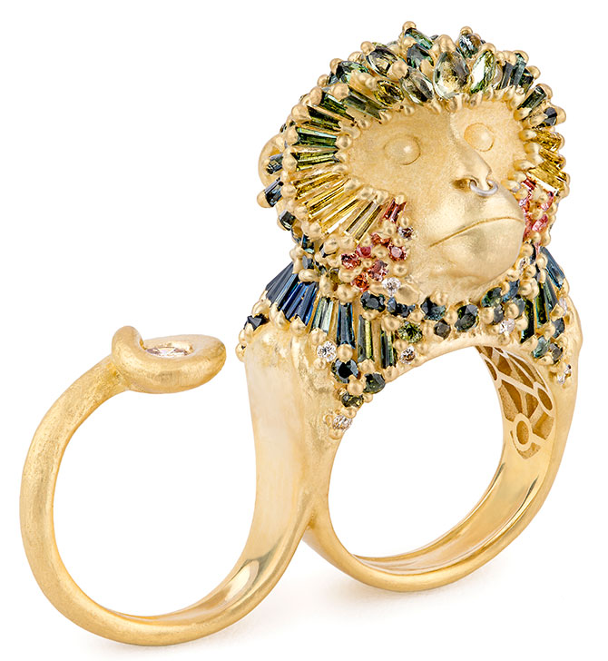 polly wales temple king monkey ring
