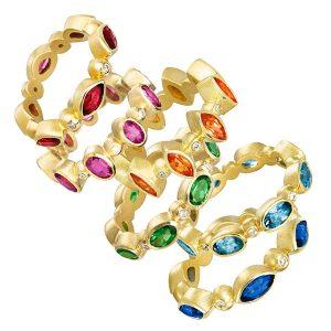 suzy landa gemmy stacking rings