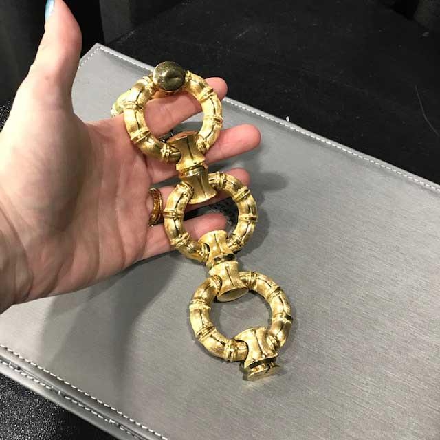 Alderman Ford vintage gold bamboo bracelet