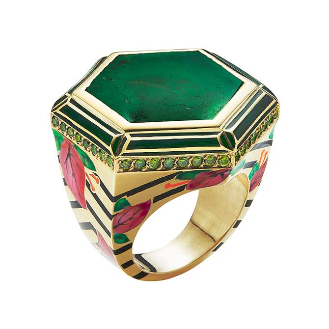 Alice Cicolini Bougainvillea ring