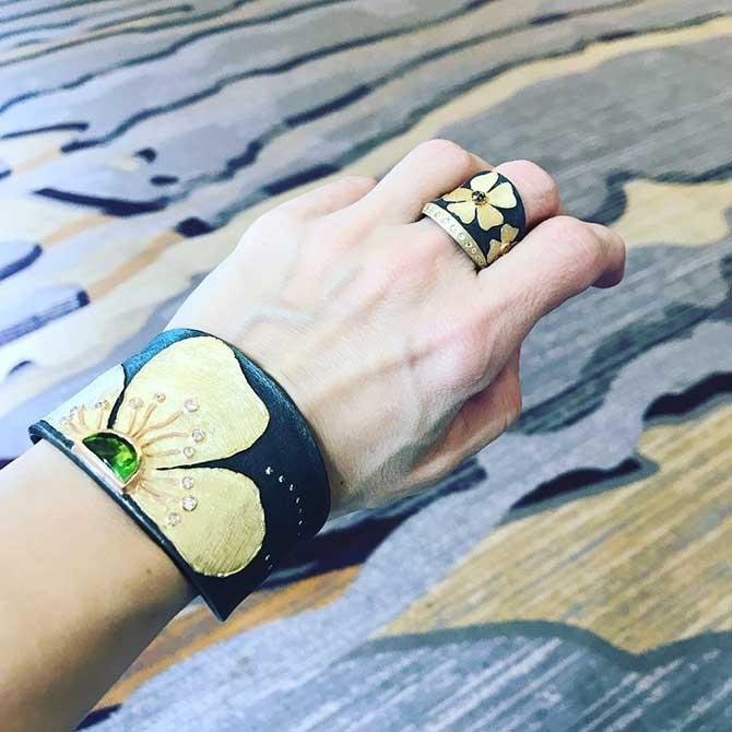 Alishan cuff and ring