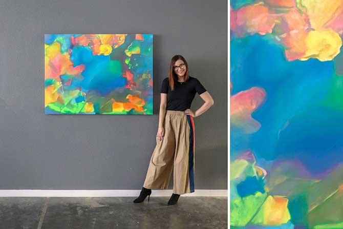 Angie Crabtree Skye opal painting