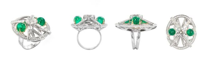 Ara Vartanian Muzo emerald and diamond ring